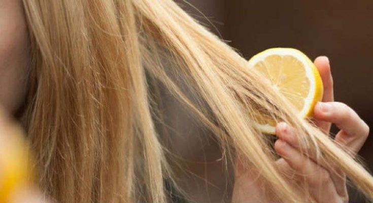 kamilica i limun za kosu